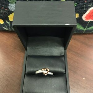 10K White and Rose Gold Ring